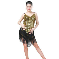 1920s Charleston 20s Gatsby Flapper Fringe Fancy Dress Party Latin Outfits #2340