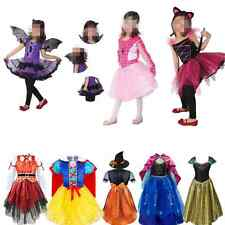 Halloween Snow White Bat Girl Kid Costumes Outfits Minnie Mouse Tutu Fancy Dress
