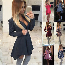Autumn Women's Sexy Bodycon Long Sleeve Dovetail Couture & Short Pleated Dress