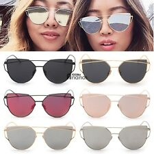 NEW Unisex Mens Womens Mirrored Lenses Metal Frame Sunglasses Eyewear AN18
