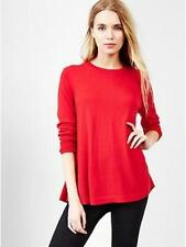 GAP MATERNITY Soft Red Merino Wool A-Line Sweater M L NWT Womans (MSRP $54.95)