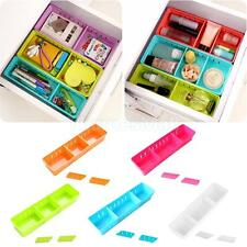 Adjustable Drawer Case Cabinet Storage Pen Holder Box Desk Tidy Table Organizer