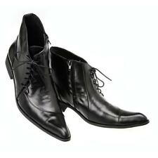 Leather Lace Up Formal Dress Ankle Boots Mens Fashion Shoes Black Pointed