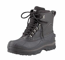 "Black 8"" HIKING BOOTS Extreme Cold Weather Snow Rain Duck WATERPROOF & INSULATED"