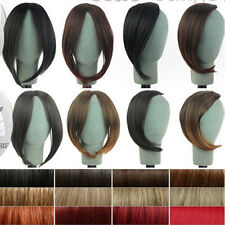 Long Side Bangs Clip In On Real Fake Fringe Bangs Hair Extensions for Hallowmas