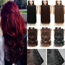 "17""-30"" Long New Curly Wavy Straight CLIP IN On HAIR EXTENSIONS 3/4 Full head lk"