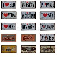 Vintage Metal Tin Sign Art Poster Plaque Pub Bar Cafe Home Wall Car Plate Decor