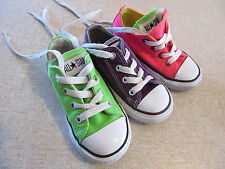 Kid's CONVERSE 'All Star' Size 7 US Shoes Pink or Purple or Green Near New Girls