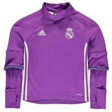 Adidas Real Madrid Training Top Juniors Purple Football Soccer Shirt