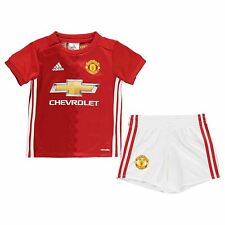 Adidas Manchester United Home Kit 2016 2017 Infants Football Soccer Top Shorts