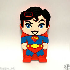 New Superman 3D Comic Hero Cartoon Silicone Case Cover Skin for iPhone 4 4s