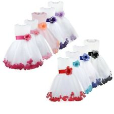 ROSE PETALS Flower Girl Dress Wedding Bridesmaid Birthday Pageant Formal Dresses
