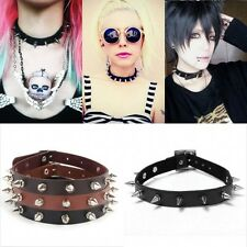 Chic Buckle Collar Necklace Punk Gothic Leather Chain Cool Spike Rivet Choker