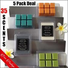 5 x Highly Scented 100% SOY WAX MELT PACK DEAL 500 hour candle TARTS for BURNERS