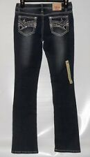 Vanilla Star Girls Embellished Skinny Boot Cut Denim Jeans Sequin Stripe 14 NWT