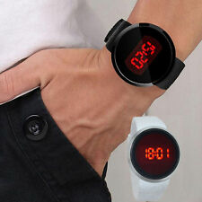 New Clearance Men LED Touch Screen Round Dial Date Silicone Sport Wrist Watch