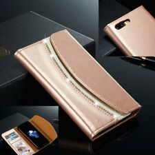 Diamond Leather Wallet Flip Case Stand Wallet Cover for Apple iPhone 7 Plus