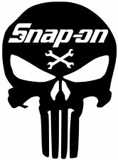 SNAP ON TOOLS PUNISHER DECAL CAR TOOL BOX TRUCK VINYL LOGO STICKER ( 8 COLORS )