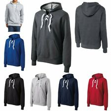 MEN'S LACE UP, LACED PLACKET, MID-WEIGHT, PULLOVER HOODIE, XS S M L XL 2X 3X 4X