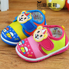 Cute Breathable Baby Shoes Squeaky Infant Boy Girl Casual Shoes Walking Size 3-6