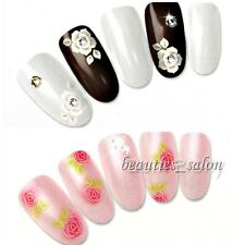 1 Sheet Rose Floral Pattern Manicure Nail Art Water Decals Transfers Sticker