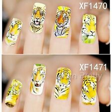 1 Sheet Tiger Pattern Full Nail Art Manicure Water Decals Transfers Stickers