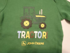 JOHN DEERE Baby Boys 6-9 Month Green Long Sleeve Tractor Bodysuit NWT