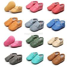 Kids Baby Boy Girl PU Leather Shoes Slip On Casual Soft Sole Shoes Prewalkers
