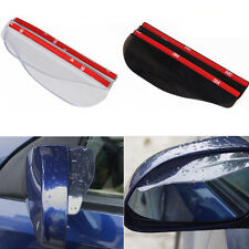 2 Pcs Rear View Black Transparent Waterproof Mirror Rain Snow Shield Car Eyebrow