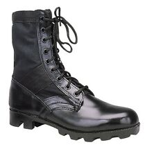 Black Ultra Force G.I. Style Boot - black Leather Toe & Heel - Regular and Wide