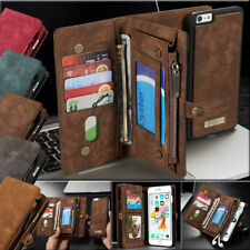 For iPhone 7 7 Plus Leather Wallet Card Magnetic Flip Removable Case Cover Stand