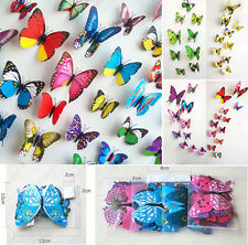 12PCS Lots 3D DIY Butterfly Sticker Art Wall Stickers Decals Room Home Decor