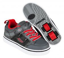 Heelys X2 Bolt Plus Light Up Shoes - Black / Grey / Red +FREE DVD+Free Delivery