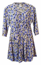 Delta Burke Blue Floral Chemise Nightgown and Robe Set Sizes 14 - 20W