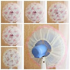 1pc Suitable Lace Embroidered Cloth Circular Dust Electric Fan Cover Home Decor
