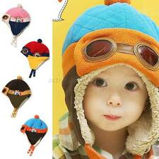 Baby Boys Girls Winter Warm Hat Toddler Pilot Earflap Soft Cotton Kids Cap Hat
