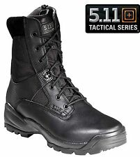"""5.11 Tactical Womens 8"""" Black ATAC Side Zip Work Boots Womans Field Duty Boot"""