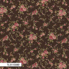 Lecien-Antique Rose Small Brown Floral 31150-80 by the metre fabric by Lecien