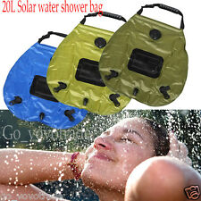 20L Solar Heated Shower Camping Water Bathing Bag Outdoor Travel