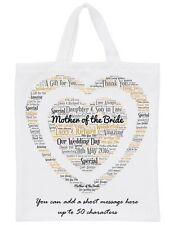 Personalised Mother of the Bride/Groom Word Art Gift Bag Large