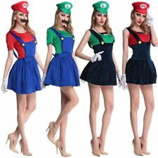 Sexy Women Halloween Cosplay Party Mario Short Mini Fancy Dress Costumes Outfits