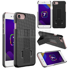 Black Swivel Holster Kickstand Belt Clip Hard Case Cover For Apple iPhone 7 Plus