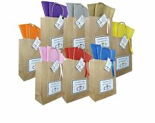 Personalised Wedding Paper Vintage Brown Gift Bag Anniversary Party favour