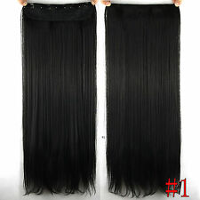 190g 5Clips On One Pieces Remy Clip In 100%Real Human Hair Extensions Jet Black