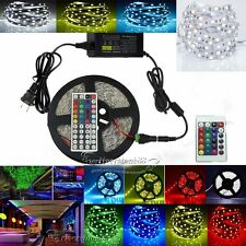 5M/10M/15M 5630 RGB SMD Flexible Light LED Strip Power Supply+Key IR Remote Hot