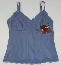 GLORIA VANDERBILT 100% Silk Lace Camisole Top - Tan Red Blue - Med Petite - NWT