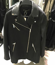 ZARA CLOTH BIKER COAT XS-XL REF. 1255/207