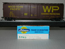 Athearn HO scale #1323 50' Plug Door Box Western Pacific Assembled! Upgraded!