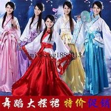 NEW 5 Color Chinese Han Clothing Princess Fairy Show Cosplay Dress Robe Costume
