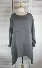 Format L/S Flax Linen Tunic Top in 14 Colors S M L XL by Blue Fish Red Moon
